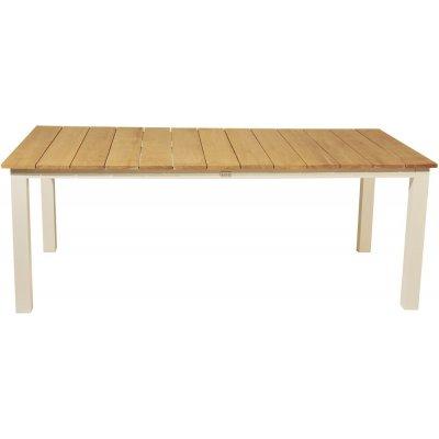 Maglehem matbord (210*100 cm) – Vit/Teak