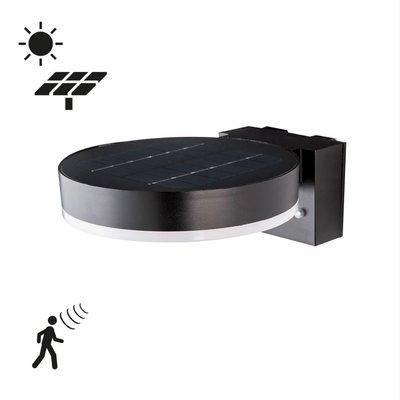 Solcellsdriven vägglampa med sensor