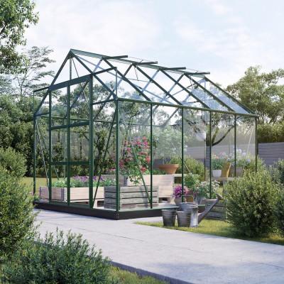Växthus Neptunus - Grönt 8 m² härdat glas