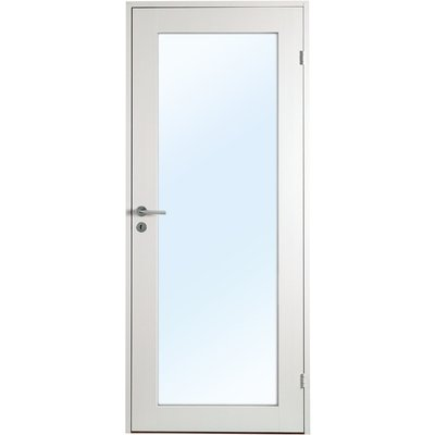 Innerdörr Öland - Massivt dörrblad, 1:spegel helglas