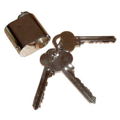 Låscylindrar och nycklar - Krom
