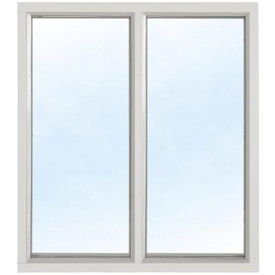 Fast fönster med bågpost - Aluminium - 3-glas U-värde 1,1