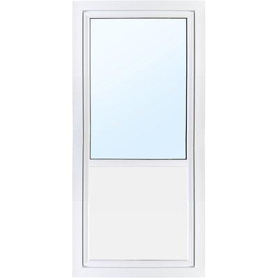 Dörr med fönster 3-glas - Utåtgående - PVC - U-värde 0,96