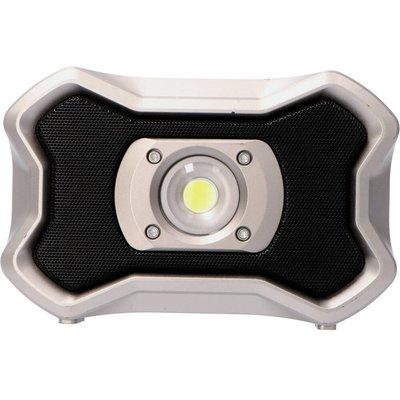 Laddningsbar strålkastare med högtalare