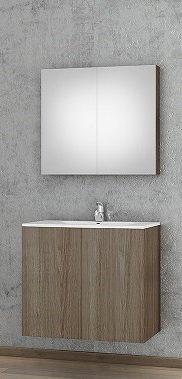 Möbelpaket Primo 75 Kraft Wood med spegel