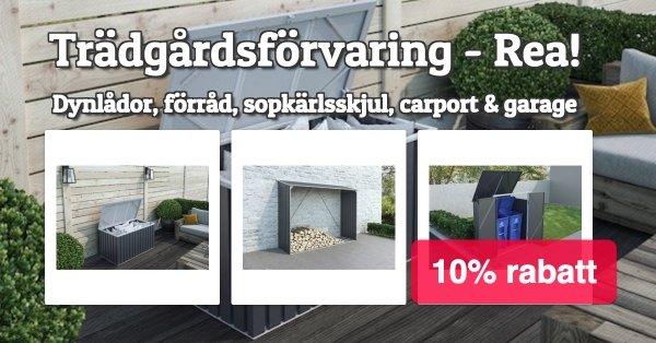 Smart trädgårdsförvaring - Rabatt!