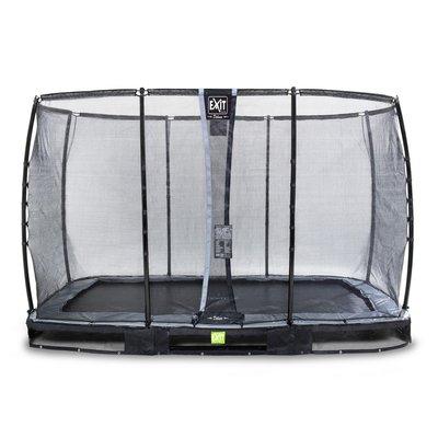 Studsmatta marknivå Elegant Premium - Rektangulär 244x427 cm + Säkerhetsnät Deluxe