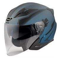 Hjälm för motorcykel - blå & svart