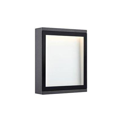 Lerbäck Vägglampa - Mörkgrå