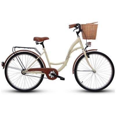 """Cykel Eco 28\\\"""" - gräddvit"""