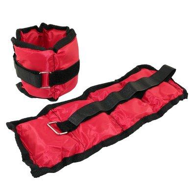 Viktmanchetter - 2 x 0,7 kg röd