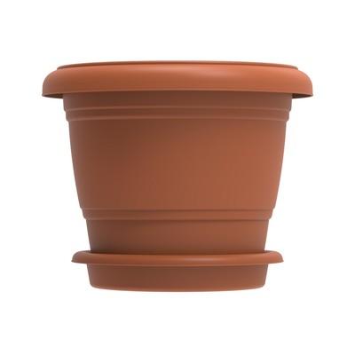 Planteringskruka med fat, rund 72 l