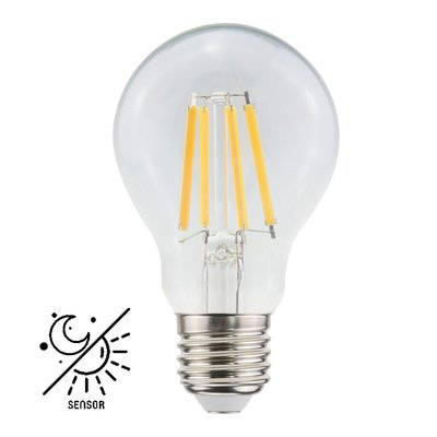 LED lampa A60 E27 806lm 2700K med sensor