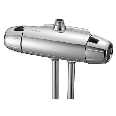 FM Mattsson Säkerhetsblandare (40 c/c) för dusch, 9000E ECO, krom - 8251-1000
