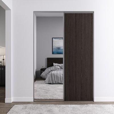 Venedig skjutdörr till garderob - 2 dörrar - Spegel/panel (flera färgval)