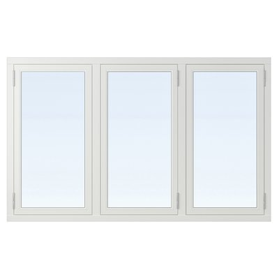 2-glasfönster Trä utåtgående - 3-Luft - Vit