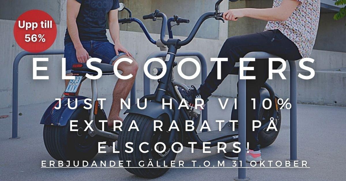 Oktoberkampanj - 10% extra rabatt på Elscooters!