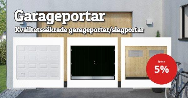 Alla garageportar 5% rabatt