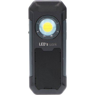 Arbetslampa med högtalare 550lm