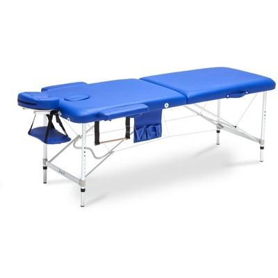 Bred massagebänk med metallben - 2 zoner - Enfärgad