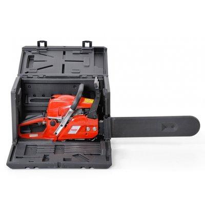 Bensindriven motorsåg med låda - 40cm svärd - 45cc