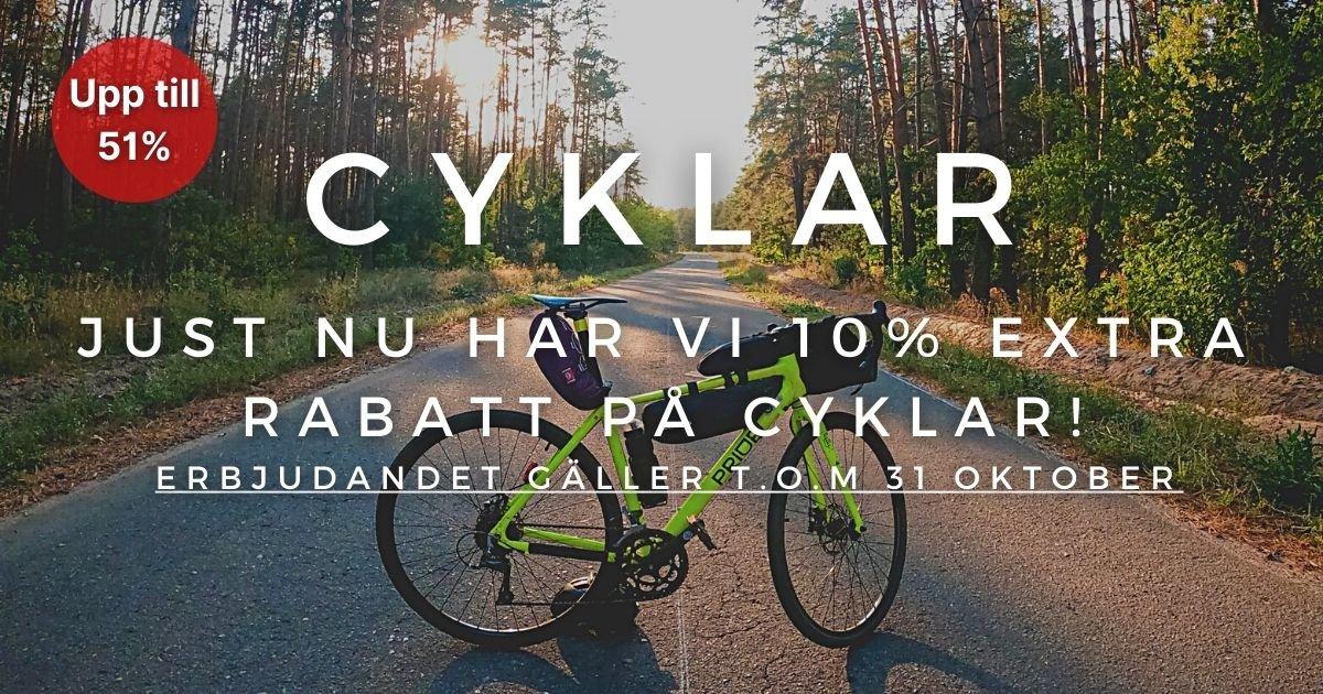 Oktoberkampanj - 10% extra rabatt på Cyklar!