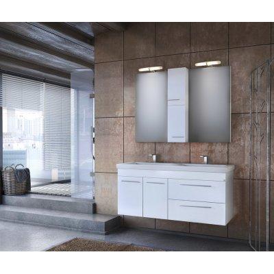 Möbelpaket Status 120 - Vitt med spegelskåp