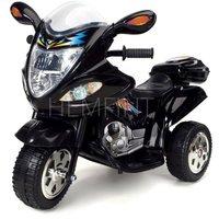 Svart elmotorcykel för barn