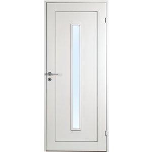 Innerdörr Öland - 1-spegel - Långt glas - Massiv