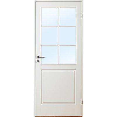 Innerdörr Gotland - Kompakt dörrblad med spröjsat glasparti SP6