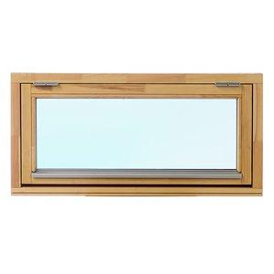 2-glasfönster Trä överkantshängt utåtgående - Grundbehandlat - U-värde 1.3