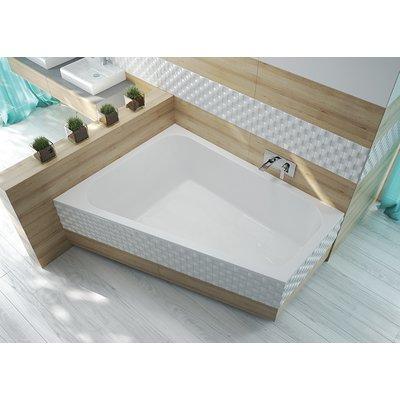 Badkar Trapezium för inbyggnad - Free Line | Vänstermodell | Djup 45cm