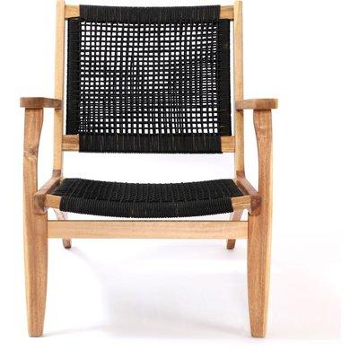 Lekvall stol - Svart rep/Akacia
