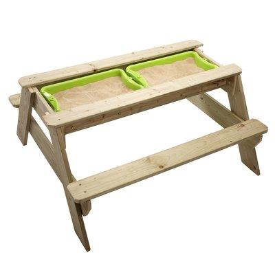 Stor picknickbänk med sandlåda