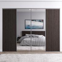 Venedig skjutdörr till garderob - 4 dörrar - Panel/spegel (flera färgval)