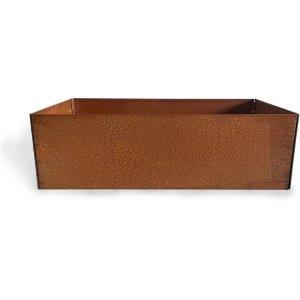 Cortenstål kruka kvadrat - 20x60x60 cm