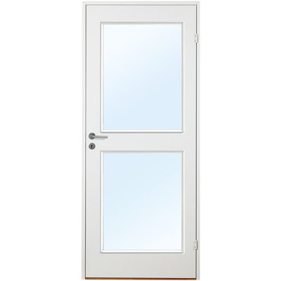 Innerdörr Orust - Kompakt dörrblad, slätt med 2 glasparti G03