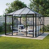 Växthus Jupiter med härdat glas - 8,7 m²