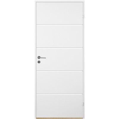 Innerdörr Bornholm - Kompakt dörrblad med linjefräst dekor X2