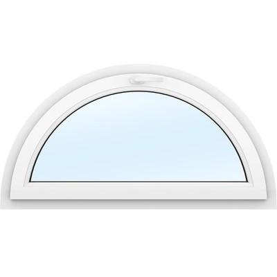 PVC-fönster | Halvmåne Öppningsbart | 3-glas