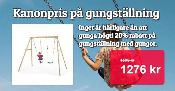 Gungställning med gungor 20% rabatt - Superpris
