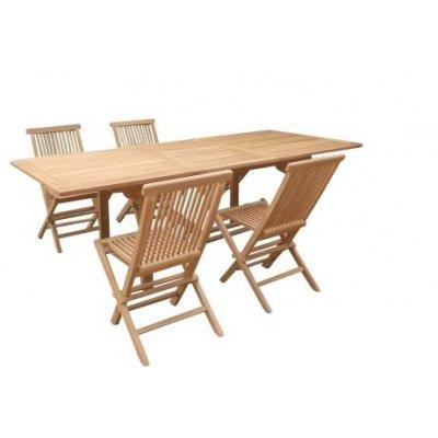 Matgrupp - Förlängningsbar 180-240 cm - 4 st stolar