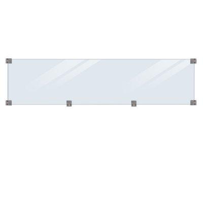Glasstaket Härdat - längd 174 cm