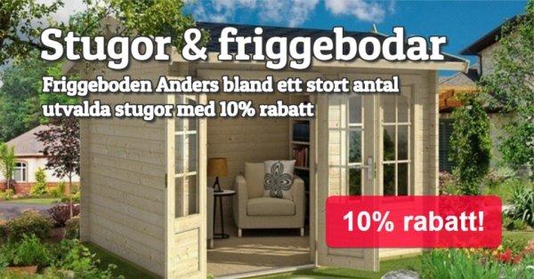 Toppriser på Stugor & friggebodar - Utvalda 10%
