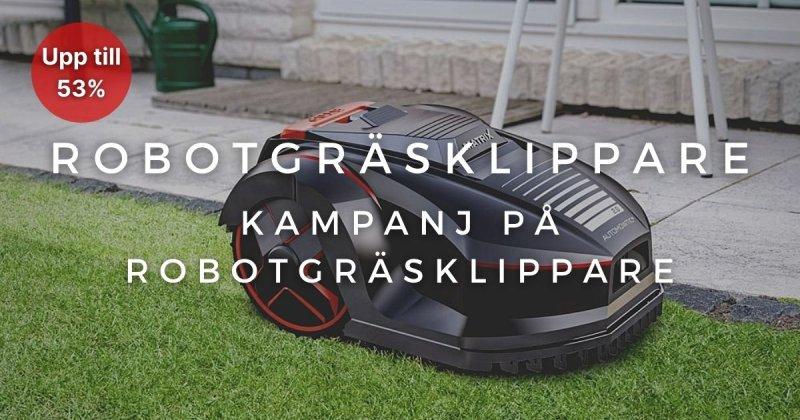 Robotgräsklippare - Upp till 53%