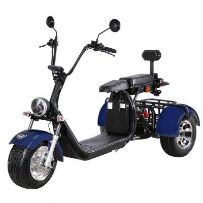 Elscooter Trehjuling - Blå 2000W