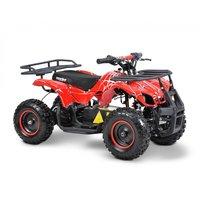 Röd fyrhjuling för barn
