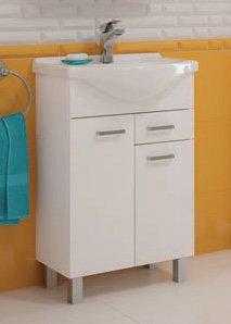 Tvättställsskåp Mea, med tvättställ