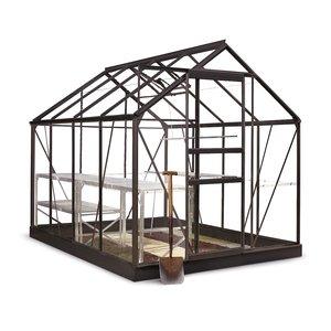 Växthus Popular 5 m² - Svart thumbnail