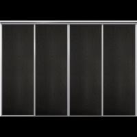 Venedig skjutdörr till garderob - 4 dörrar - Panel - Valfri färg